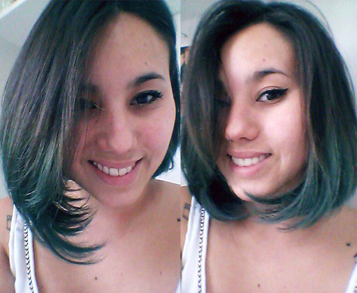 O meu cabelo ficou assim na terça-feira, meio esverdado ^^